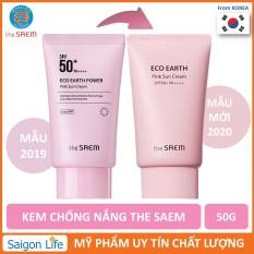 [HOT] Kem Chống Nắng The SAEM Eco Earth Power Pink Sun Cream SPF50+ PA++++ 50g Dành Cho Da Nhạy Cảm Kết Cấu Mỏng Nhẹ Không Gây Nhờn Rít