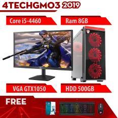 Bộ máy tính để bàn chơi Game VIP đời cao cấu hình khủng giá rẻ 4TechGM03 2019 Core i5, Ram 8GB, SSD + HDD, Vga 1050, PC Gaming kèm màn hình 22inch cho cá nhân, quán net, Club Games chuyên nghiệp, thùng máy dễ nâng cấp, đủ phím chuột, wifi.