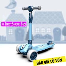 [ XẢ KHO BÁN LỖ ] Xe Trượt Scooter Bánh Phát Sáng Vĩnh Cửu, Rèn Luyện Vận Động & Tăng Chiều Cao Cho Trẻ 2 Tuổi Chở Lên Xe Chuyển Hướng Mượt Mà & Rất An Toàn Xe Trượt Scooter Trẻ Em Bánh To Baby Chịu Lực ( Bảo Hành 12 Tháng )