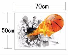 Giấy dán tường bóng rổ 3D cực chất