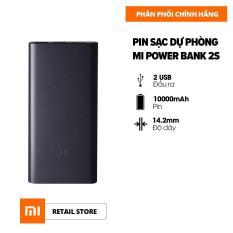 [HÀNG CHÍNH HÃNG] Pin sạc dự phòng Xiaomi 2S 10.000 mAh – Max 18W – Input Micro-USB / Output USB-A x2 – Vỏ hộp kim nhôm nguyên khối siêu mỏng