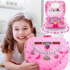 Bộ đồ chơi mỹ phẩm du lịch hộp trẻ em giả công chúa hồng trang điểm làm đẹp an toàn không độc hại