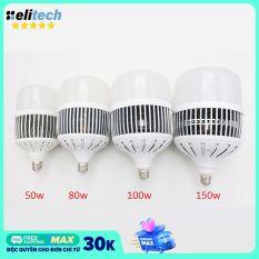 Bóng đèn Led Bulb 50w 80w 100w 150w đủ công suất đui E27 tản nhiệt nhôm ánh sáng trắng dùng cho chụp ảnh live stream