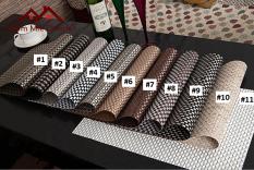Tấm lót bàn ăn đan dày cao cấp, sang trọng