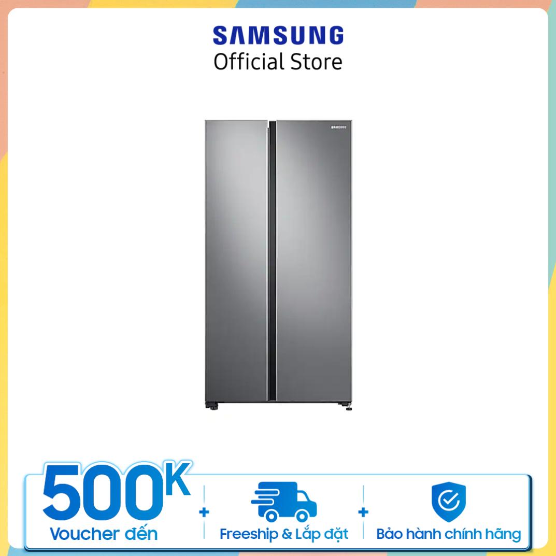 Giao hàng dự kiến từ ngày 30/8 [Trả góp 0%]Tủ lạnh Samsung Side by Side 680L (RS62R5001M9)