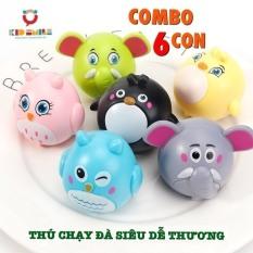 COMBO 6 CON, bộ sưu tập động vật chạy đà siêu dễ thương chất liệu nhựa ABS cao cấp cho bé từ 6 tháng tuổi trở lên vui chơi thư giãn