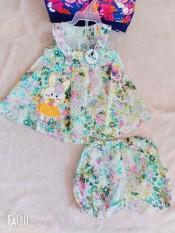 set hoa xinh cho bé gái chất đũi mềm mát