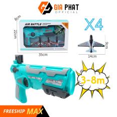 [CHỌN MÀU] – Đồ chơi bắn máy bay cho bé, kèm 4 máy bay mô hình, bắn xa 3-8m, Đồ chơi vận động ngoài trời cho bé, bắn máy bay đồ chơi chất lượng cao – Đồ chơi bắn bong bóng