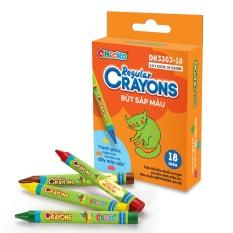Bút Sáp Màu Duka Regular Crayons (18 Màu) – DK 3303-18