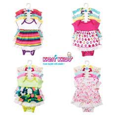 (MẪU MỚI) COMBO 5 Body váy chất đẹp nhiều màu cho bé (s1 – s4) – 5 bộ