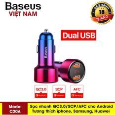 [VOUCHER HOT 50K] Củ sạc điện thoại trên ô tô – Tẩu sạc xe hơi Baseus Hỗ trợ Sạc Nhanh 45W Công Nghệ : USB PD,Qualcomm Sạc Nhanh QC 3.0, MTP sạc trên xe ô tô tích hợp sạc nhanh cho các dòng điện thoại – Phân phối bởi Baseus Vietnam