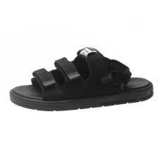 (Có 3 Màu) Sandal nam nữ 3 quai ngang Sport đen đế trắng siêu chất – B end T Shop