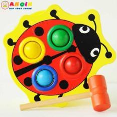 Đồ chơi gỗ đập bóng hình con bọ rùa, Phát Triển Trí Tuệ Cho Bé Mầm Non 2 – 6 Tuổi, Đồ chơi gỗ – Đồ chơi trí tuệ – Đồ chơi thông minh cho trẻ, Shop Đồ Chơi Trẻ Em Thông Minh, An Toàn – AKOIN