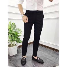 Quần âu nam Hàn Quốc, quần tây nam đen dáng ôm vải co giãn không nhăn Cao Cấp, thiết kế đơn giản dễ phối trang phục