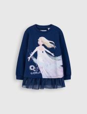 Áo nỉ bé gái CANIFA cotton USA in hình Elsa thời trang- 1TW20C001