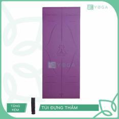 Thảm Tập Yoga Định Tuyến TPE 6mm 2 Lớp Tặng Kèm Túi
