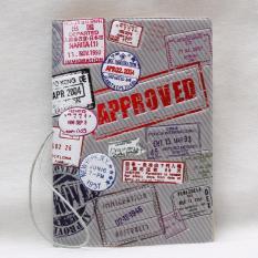 Vỏ Bao Hộ Chiếu Passport Cover Hình Dấu Mộc Xuất Nhập Cảnh Các Nước