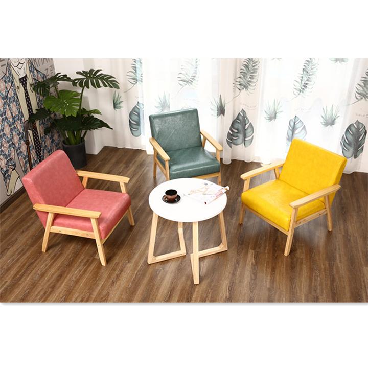 Ghế sofa đơn bọc da cao cấp thiết kế sang trọng tinh tế GHR002