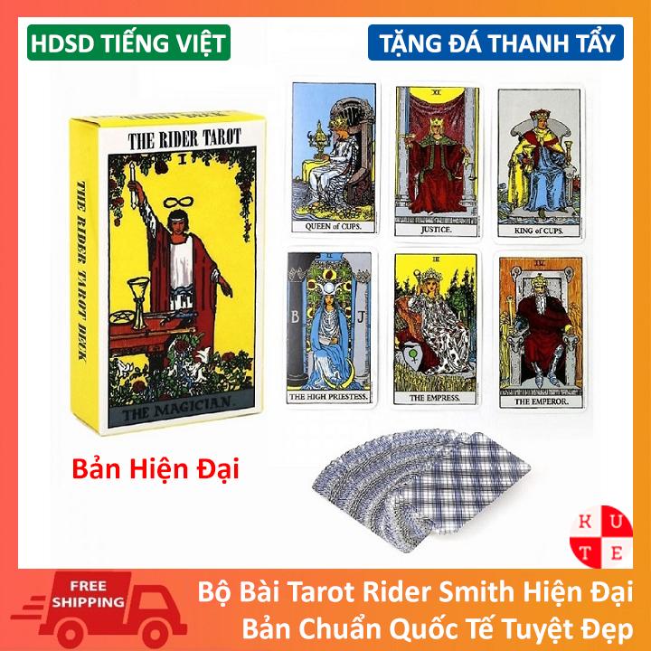 Bài Tarot Tiếng Việt Tarot Rider Waite Smith Tặng Kèm Đá Thanh Tẩy Và Hướng Dẫn Sử Dụng Việt Hóa