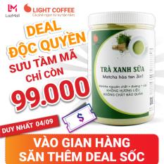 [LIGHT DEAL 24H] Bột trà xanh sữa 3in1, matcha xuất xứ Nhật Bản, hũ 550g, từ nhà sản xuất Light Coffee