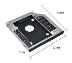 Caddy Bay Nhôm HDD,SSD SATA 3 9.5mm/12.7mm – Khay ổ cứng thay thế ổ DVD