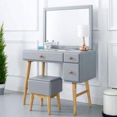 Bộ bàn trang điểm Rora – Grey gỗ tự nhiên