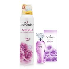 Combo Xịt Khử Mùi Enchanteur Sensation 150ml+ Nước hoa 10ml