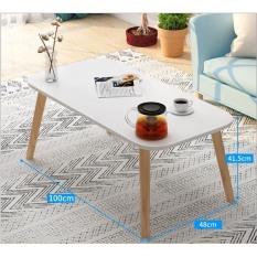 [ 80x40cm ]Bàn trà sofa mặt chữ nhật, chân 40cm