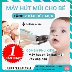 Máy hút mũi cho bé sơ sinh, máy hút mũi trẻ em, vệ sinh thông mũi tự động cho bé bi nghẹt, viêm – Máy Hút Mũi, Máy thông đờm trẻ em máy hút khỏe với 5 mức độ, BH 1 Đổi 1