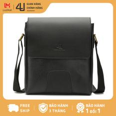 Túi da nam đeo chéo 4U thời trang đựng vừa ipad D267D (Đen)