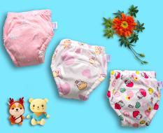 03 Quần bỏ bỉm Goodmama – bé gái, vải 100% cotton mịn mát giúp bé thông thoáng, không bị hăm tã như tã giấy