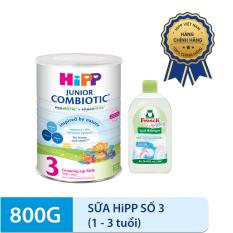[CÓ QUÀ TẶNG] – Combo Sữa HiPP 3 JUNIOR COMBIOTIC 800g và Nước rửa đồ dùng cho bé Frosch (500ml)-Nhập khẩu từ Đức