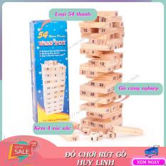 Bộ đồ chơi rút gỗ 54 thanh mini, đồ chơi cho bé, đồ chơi trong nhà, an toàn cho bé, Huy Linh