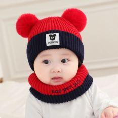 Mũ len mềm mickey trẻ em phối 2 màu
