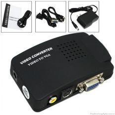 Bộ Chuyển Đổi Tín Hiệu Từ AV Sang VGA ,Bộ chuyển đổi AV sang VGA – Thiết bị chuyển đổi tín hiệu AV sang VGA – Bộ chuyển đổi AV S – Video sang VGA – màu ĐEN