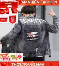 áo khoác jean nam full boy thời trang An Nhiên Store ms002