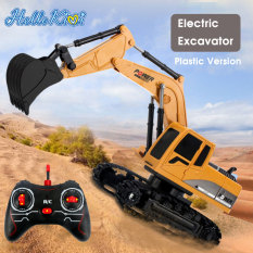 HelloKimi đồ chơi xếp hình Xe mô hình Xe đồ chơi trẻ Xe điều khiển từ xa xe xây RC Excavator Toys 2.4G Remote Control 360° Rotation Engineering Vehicle Toy 1:24 Excavator 5CH Plastic 6CH Alloy Electric Excavator Construction Bulldozer Truck Toys