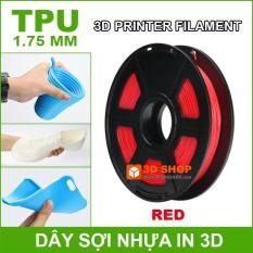 Dây sợi nhựa in 3D TPU dẻo 1.75mm 0.5Kg Red