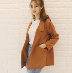 Áo vest nữ, áo blazer nữ nâu đất 1 lớp cao cấp