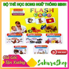 Bộ thẻ học thông minh song ngữ Anh – Việt Flash Card cỡ lớn 15 chủ đề (280 thẻ),Bộ thẻ học phát triển tư duy