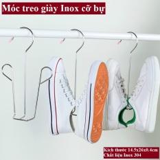 Móc treo, phơi giày dép Inox – Móc treo Inox 304 dày 4mm, giữ phom giày dép