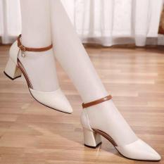 Giày Sandal Cao Gót 7 Phân Mũi Nhọn Tuyệt Phẩm Bền Đẹp Sang Chảnh