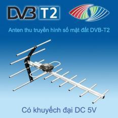 ANTEN ( ăngten) TRUYỀN HÌNH SỐ MẶT ĐẤT DVB-T2 Ngoài trời khuếch đại tín hiệu HKD G11KD-T2; kèm 15m dây cáp đồng trục 2 đầu jack