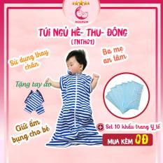 Túi Ngủ Cho Bé NOONON Hè Thu – Mã TNHT- Chăn Hè Cho Bé Ngủ Ngon – Tặng Kèm 10 Khẩu Trang Y Tế