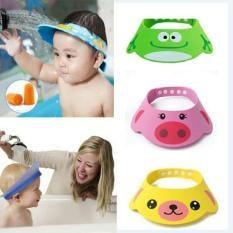 Nón gội đầu hoạt hình ngộ nghĩnh cho bé Nón gội chống nước vào mắt