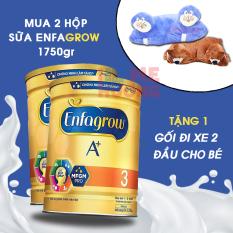 Combo 2 lon sữa bột Enfagrow ( Enfa grow ) A+ 3 Vanilla cho trẻ từ 1-3 tuổi 1750g tặng gối xe HSD mới – [Bách Hóa Mẹ Hương]