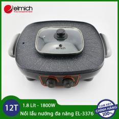 Nồi lẩu nướng cắm điện đa năng dung tích 1.8 lít công suất 1800W Elmich EL-3376 – Hàng chuẩn chính hãng, bảo hành 12 tháng