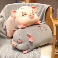 Gâu bông heo luơi măt hip , heo ngủ gât dễ thung size 80 cm
