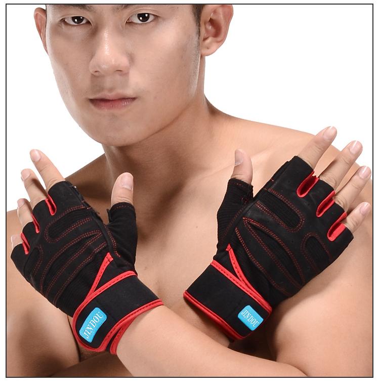 Găng Tay tập Thể hình tập Gym Cao Cấp- mềm thoáng khí, thấm Mồ Hôi Tay JinDou1- 1 đôi