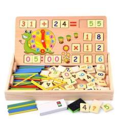 Đồ Chơi Toán Học Có Chữ Số, Que Tính, Bảng Số Bằng Gỗ cho bé, đồ chơi giáo dục thông minh, dụng cụ học tập, đồ chơi an toàn cho bé